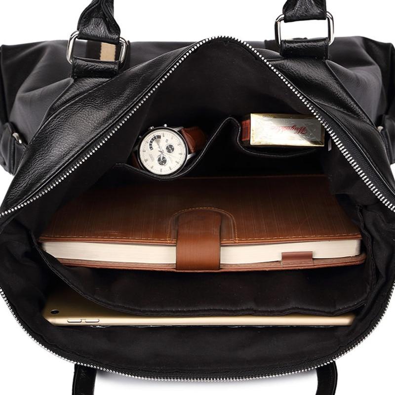Leather Briefcase Men Bag Business Handbag Male Laptop Shoulder Bags Tote Natural Skin Men Leather Briefcase