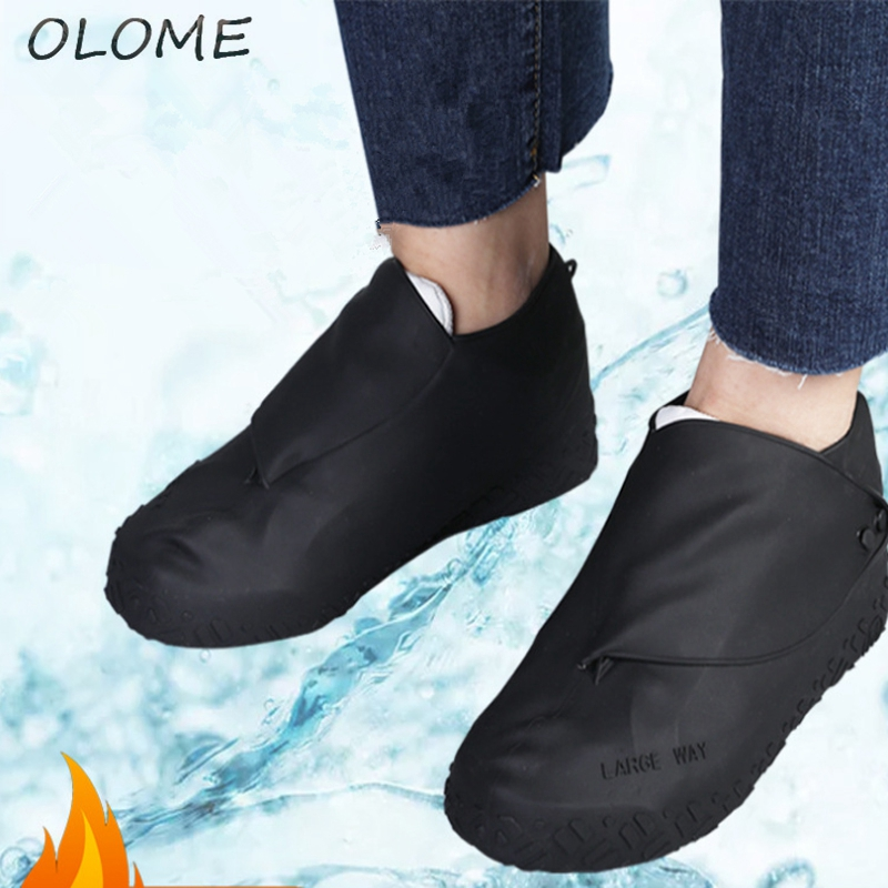 1 Pair Silicone Rain Shoe Cover Thick And Wear-resistant Portable Men, Women And Children Outdoor Rainproof Shoes