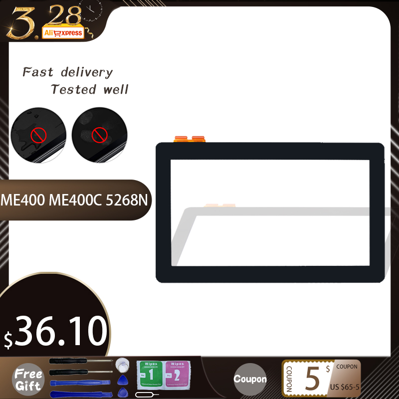 New 10.1'' Inch For Asus VivoTab Smart ME400 ME400C 5268N REV:2 FPC-2 Touch Panel Screen Glass Lens Replacement Free Shipping