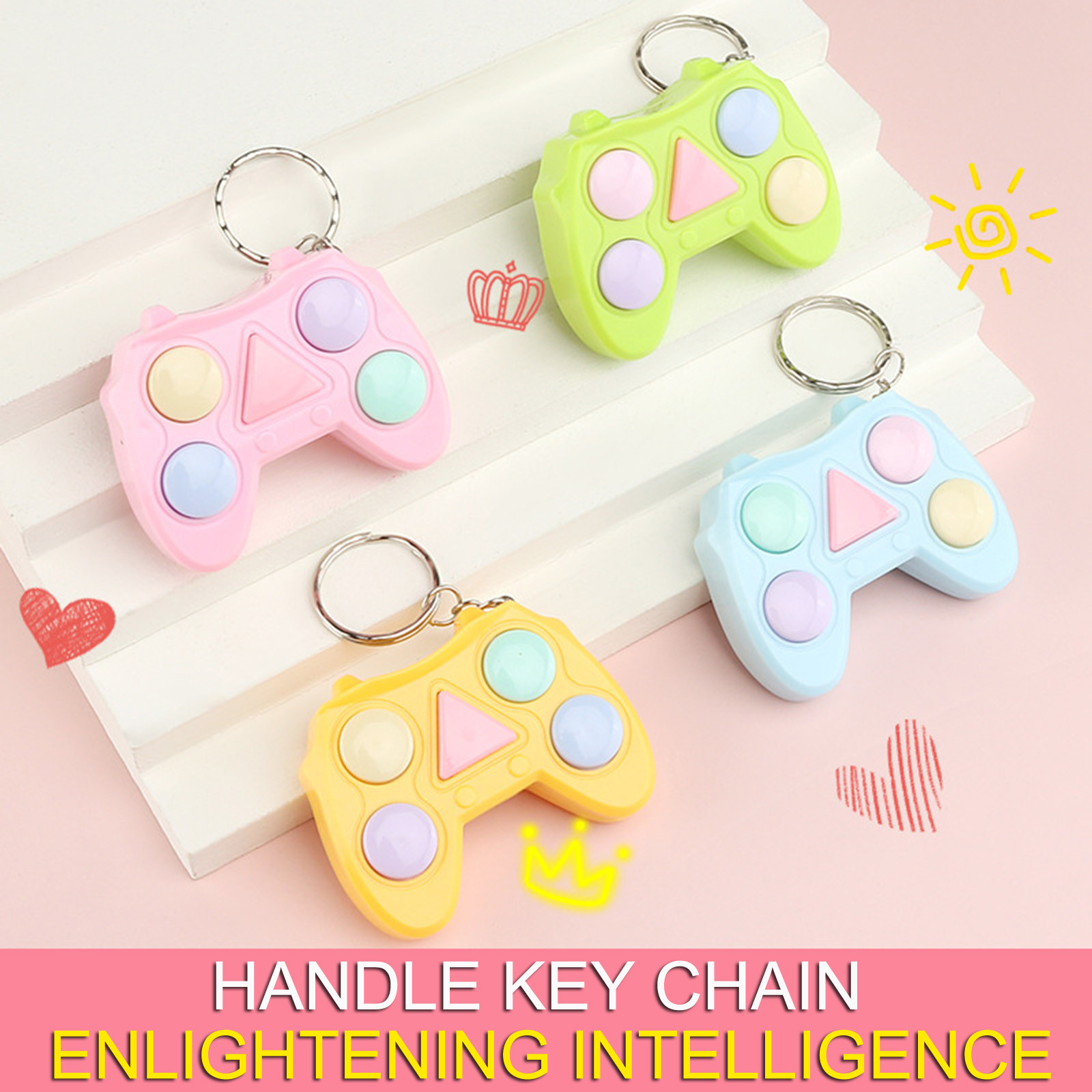 Stress Relief Fidget-Toy-Pack Memory Color-Game-Machine Keychain Gadget Mini-Handle Training img2