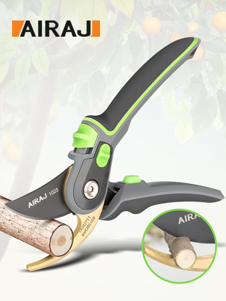 AIRAJ Gardening Pruning Shears, Which Can Cut Branches Of 24mm Diameter, Fruit Trees, Flowers,Branches And Scissors