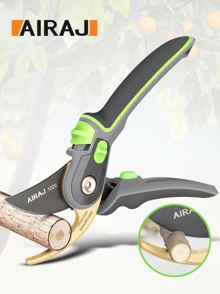 AIRAJ tijeras de podar para jardinería, que corta ramas de 24mm de diámetro, árboles frutales, flores, ramas y tijeras