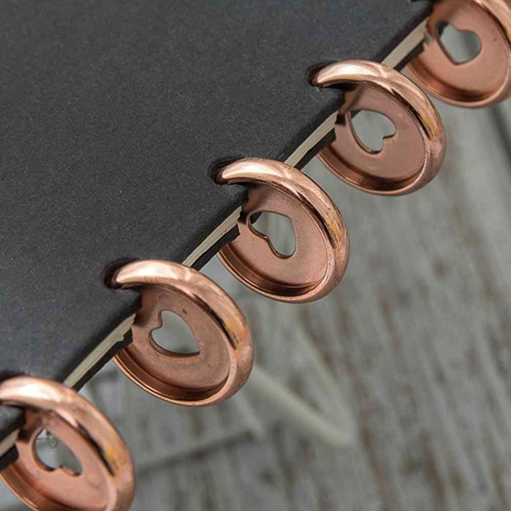6pcs Plastic Losbladige Boek Binding Ringen 360 Graden Opvouwbare Disc Gesp Binding Ring Voor Notebook Album Plakboek Clips