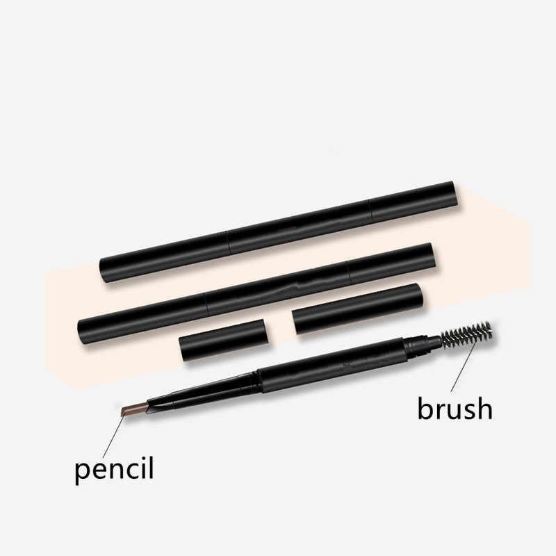 جديد 4 لون العين قلم حواجب مقاوم للماء الطبيعي الدورية التلقائي كحل قلم حواجب العين مع فرشاة الجمال أداة التجميل