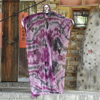 Halloween Hanging Ghost Horror Pendant Decoration Haunted House Electric Toys Glowing Eyes Scary Voice Tricky Props Look Fierce