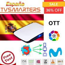 1 an de garantie espagne IP-TV M3U Movistar LaLiga Eurosport allemagne XXX prise en charge Android box Enigma2 IOS Smart TV aucune application incluse(China)