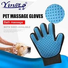 Doppelseitige hund katze pflege handschuh für katzen Haustier Haar Deshedding Pinsel Kamm Handschuh Für Pet Hund Reinigung Massage Handschuh für Tier