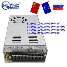 Импульсный источник питания 250 Вт-500 Вт ac110/220 В dc 12 В 24 в 36 в 48 в 60 в dc