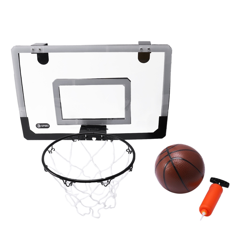 Mini Basketball Hoop With Ball 18 inch x12 inch Shatterproof Backboard