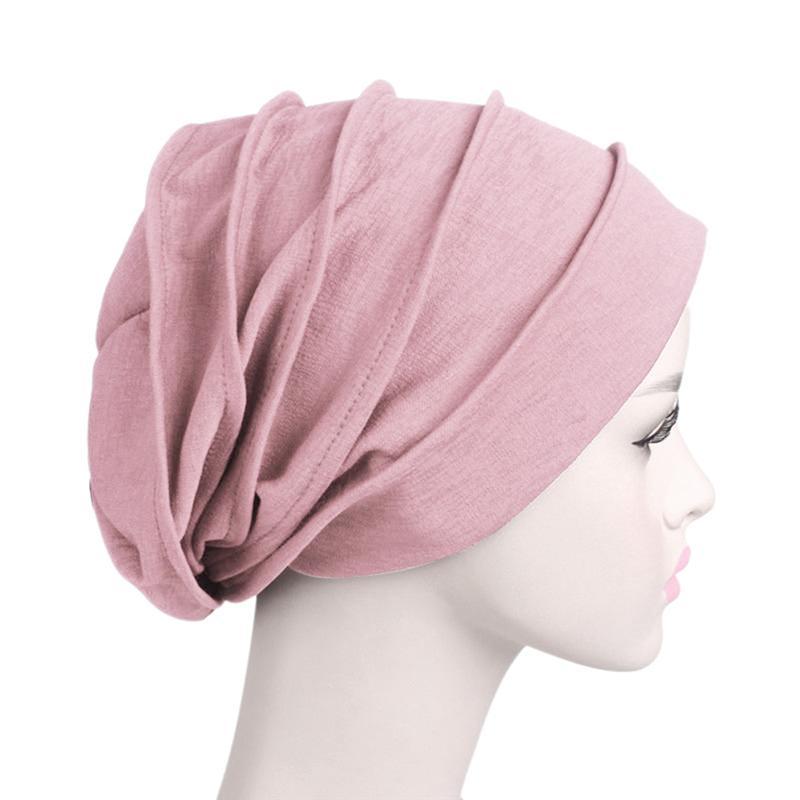 Wide Side Elastic Nightcap Cotton Hair Care Chemotherapy Cap Sleeping Hat Head Warp Headscarf Sleep Cap For Women