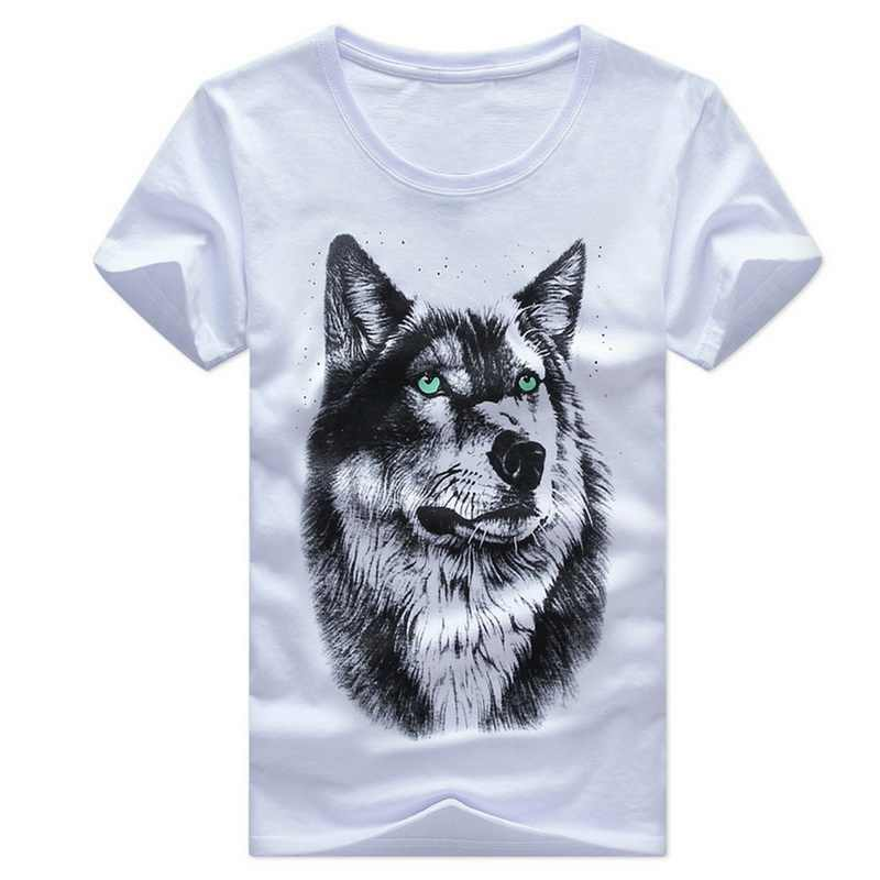Dihope 2020 Nieuwe Mannen Mode 3D Print T-shirts Nieuwe Zomer Korte Mouw O-hals Losse Slim Fit Causale T-shirt Plus size