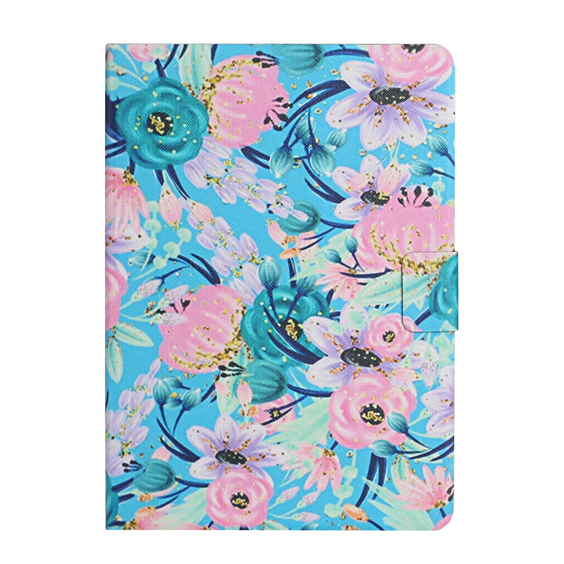 pink flower Black Case for iPad 7th Generation Case Flower Painted Cover Funda for Apple iPad 10 2 2019