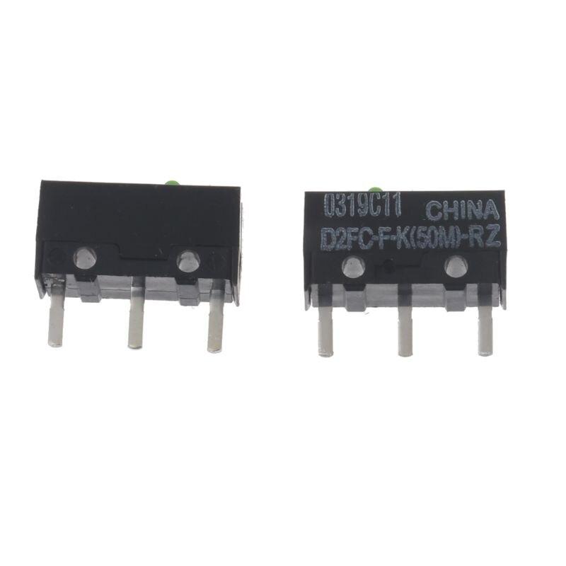 2Pcs Original OMRON Mouse Micro Switch D2FC-F-K(50M)-RZ Green Dot 50 Millions Click Lifetime For Razer