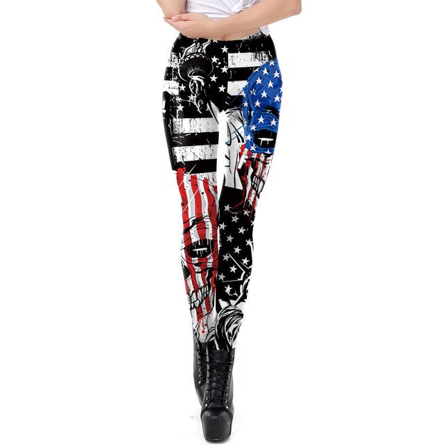 AMERICAN SKULL 3D LEGGINGS