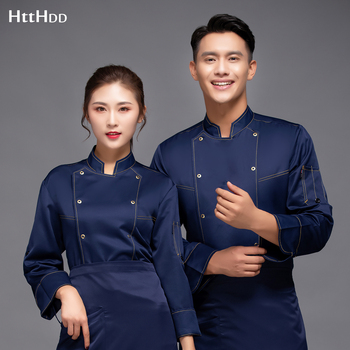 wholesale new High quality chef cooking uniform hotel restaurant breathable clothing baking long sleeve custom
