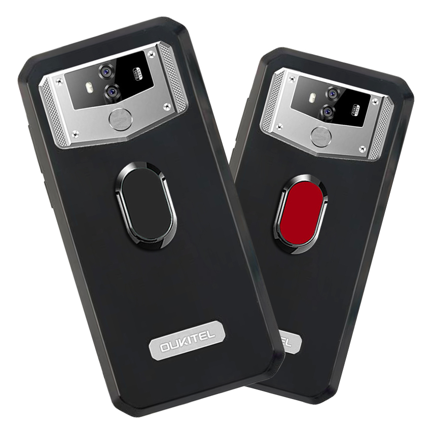 Cover for <font><b>Oukitel</b></font> <font><b>K12</b></font> Case luxury 6.3 inch Soft Black Silicone Magnetic Car Holder Ring Coque for <font><b>Oukitel</b></font> <font><b>K12</b></font> Phone Cover image
