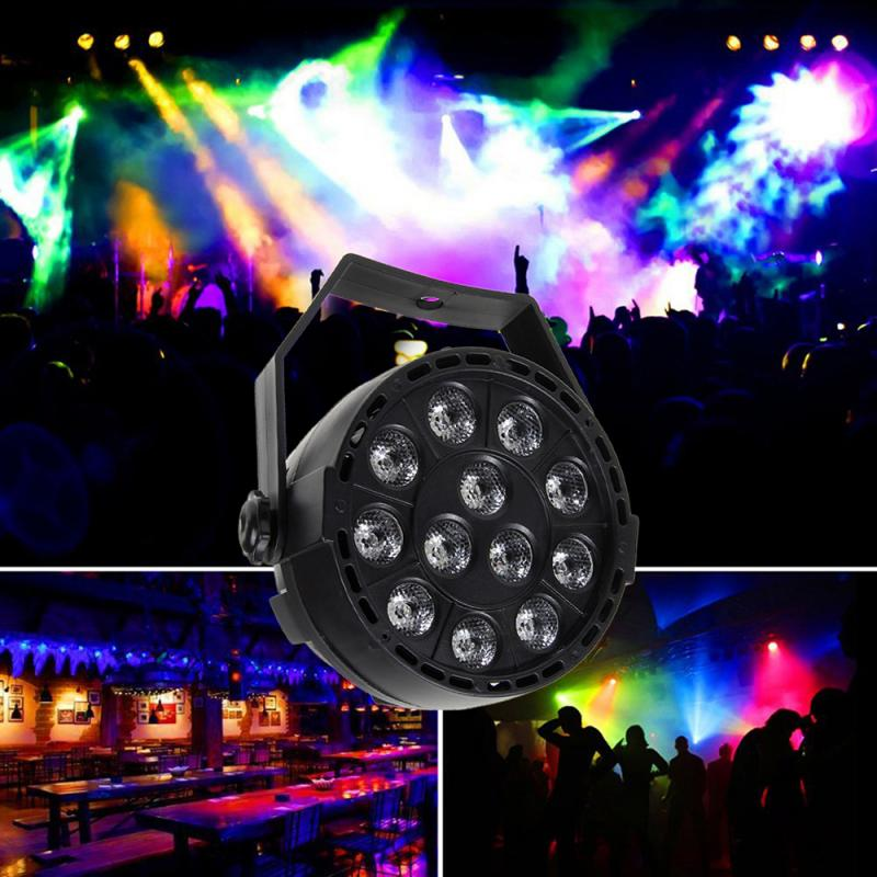 LED Par 12x1W RGBW LED Stage Light  Light With DMX512 For Disco DJ Projector Machine Party Decoration Stage Lighting