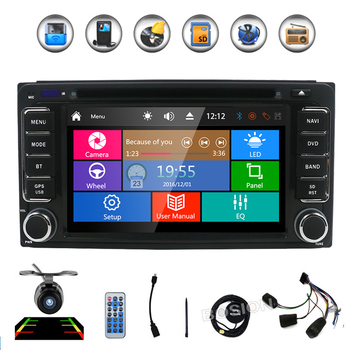 2 din 6.2 inch 200*100 Car DVD player GPS+BT+Radio+Touch Screen+car pc+aduio+Stereo+Video For Toyota Hilux VIOS Camry Corolla image