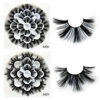 25mm 5D Vison Cílios Naturais Grosso Cílios Reutilizáveis 3D Eyelashe False Terno para o Aniversário Festa de Casamento Maquiagem, série M0 7 Pares