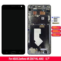 Touch Screen For Asus Zenfone AR ZS571KL A002 LCD Display Digitizer Assembly Replacement With Frame