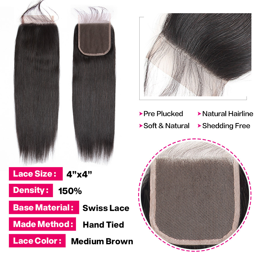 H688cc401b1894666a529af3df2975413b Beautiful Princess Peruvian Straight Hair 3 Bundles With Closure Double Weft Remy Human Hair Bundles With Lace Closure