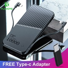 FLOVEME 10000mAh Power Bank With FREE Type-c Adapter For iPh