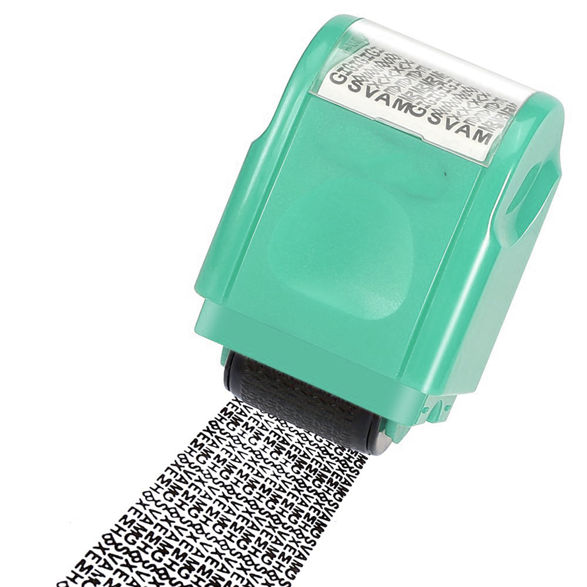 SOONHUA Creative Identity Privacy Protection Roller Stamp Information Coverage Data Protector Messy Code Roller Stamp Green