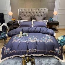 white and red embroidered egyptian cotton house de couette and pillow cases bedding set duvet cover 100 % Egyptian cotton luxury purple bedding set king duvet cover and pillow cases