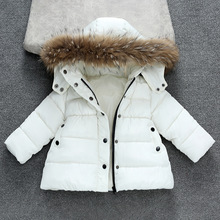 Toddler Girl Winter Clothes Boys Down Jackets Kids Coat with Fur Thick Hooded Coats Baby Parkas Girls Snowsuit Children Outfits 30degree children coat winter girl down jackets parkas teenager children s down coats real fur girl duck down outerwears coats