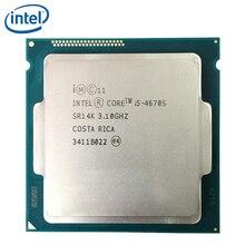 Intel Core i5-4670S i5 4670S Processor 3.1GHz Quad-Core LGA 1150 CPU 100% working properly Desktop Processor free shipping