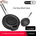 Чехол для ключа KEYECU 3x, чехол для ключа с 2 кнопками для Mitsubishi Colt Warior Carisma Spacestar 2 BTN, чехол для ключа с дистанционным управлением, с необработанн...