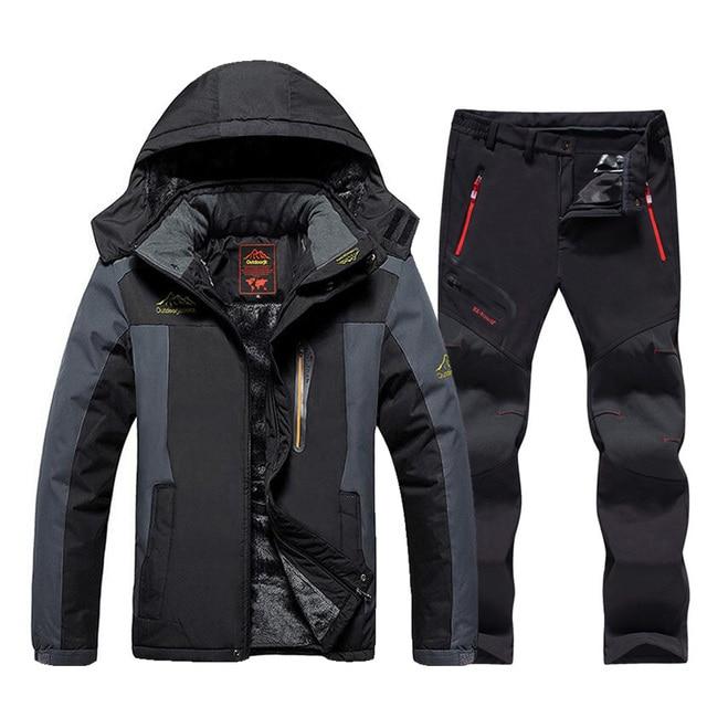 2020 New Men's Ski Suit Brands Windproof Waterproof Thicken Warm Snow Coat Winter Skiing And Snowboarding Jacket and Pants Set