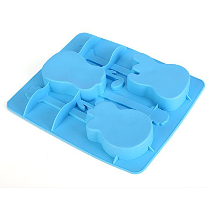 Children toy Silicone Ice-Cube Trays toy for kids Guitar Shaped Candy Mold Maker Bar Drinking for children toy