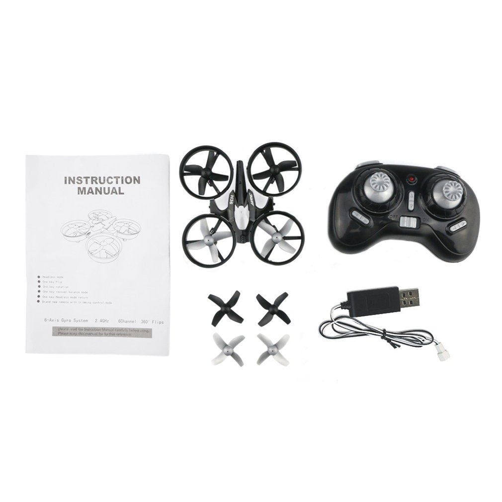 H36 Mini Drone RC Drone Quadcopters Headless Mode One Key Return WiFi Wireless Six Axles RC Helicopter Toys Gift For Kids