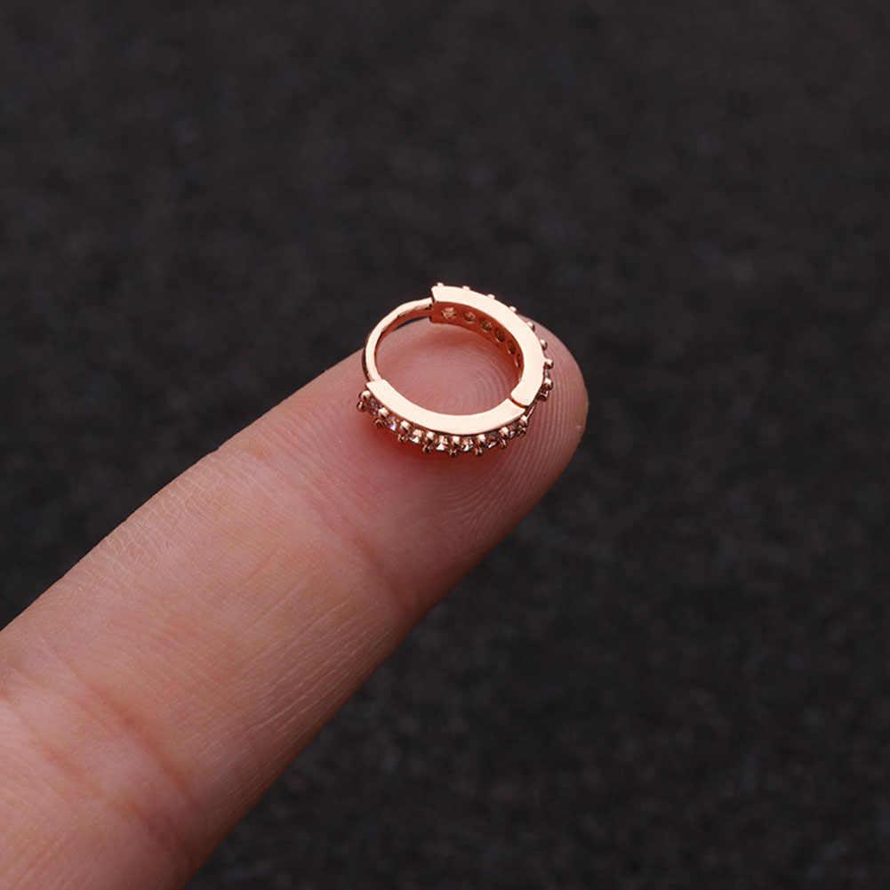 1 pc 6-10mm nariz argola narina anel de orelha hélice cartilagem tragus brinco cartilagem tragus argola brinco jóias nariz anel