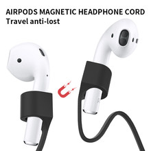 Cinta magnética do fone de ouvido para airpods pro acessórios silicone macio anti-lost corda cabo de fone de ouvido para cabo airpods