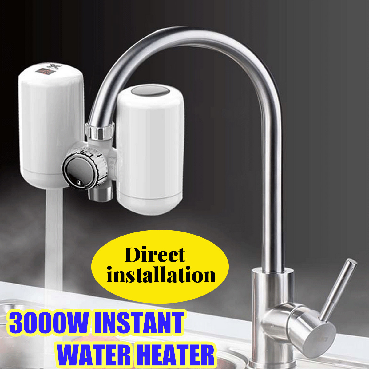 New Electric Kitchen Water Heater Tap Instant Hot Water Faucet Heater Cold Heating Faucet Kitchen Heating Tap Free Installation
