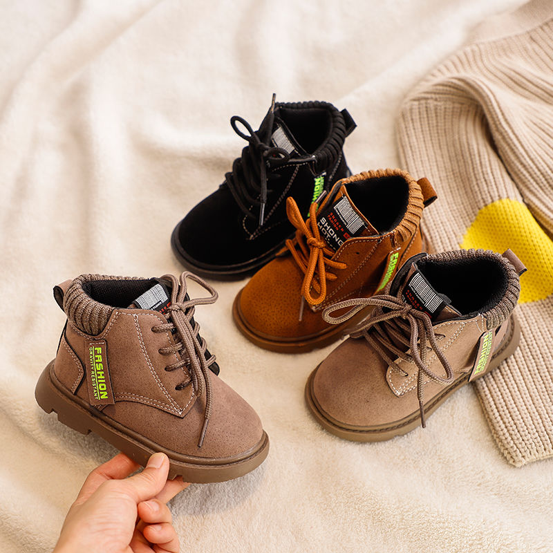 2019 Baby Boots Boys Girls Toddler Martin Boots Kids Shoes Boys Girls Snow Boots Girls Boys Fashion Boots Shoes For 1-7 Years