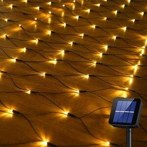 Thrisdar 2X3M 204 светодиодный светильник, солнечная сетка, сказочный светильник, Рождество, сад, стена, окно, занавеска, Солнечная сеть, гирлянда, с...