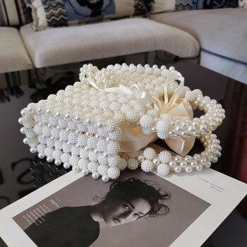 Pearl Beaded Women's Mini Handbag  3