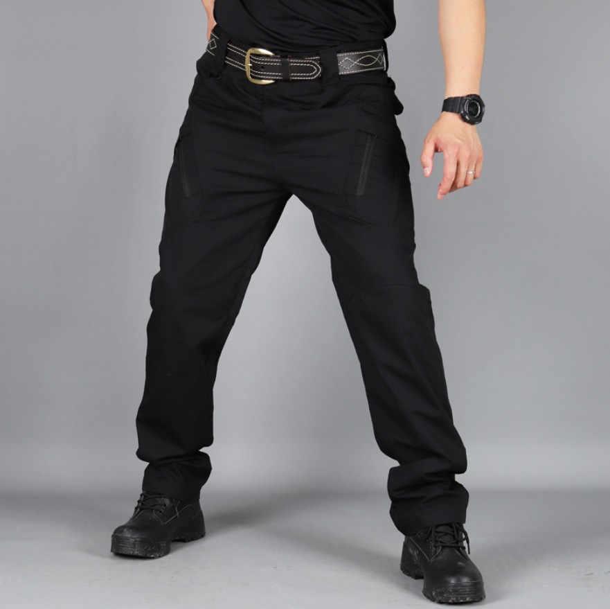 עמיד למים מכנסיים מטען גברים עיפרון צפצף צבאי רב כיס Streetwear רצים טקטי מכנסיים קמפינג טיפוס กางเกงทหาร
