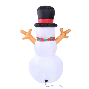 Image 3 - 1.6M Christmas Lighted Inflatable Snowman Dolls Outdoor Garden Yard Decoration Christmas Inflatable Props with LED Lights