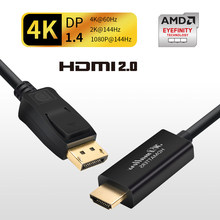 DP a HDMI 4K 60Hz cable Displayport a HDMI 2,0 cable para PC portátil Monitor 4K @ 60Hz 4K @ 30Hz 1080P @ 60Hz apoyo