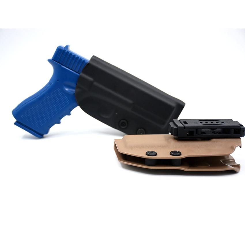 Kydex funda OWB para Glock 17 19 22 23 25 26 27 28 31 32 33 gen 3 4 5 fuera cintura funda de transporte rápido Clips de cinturón