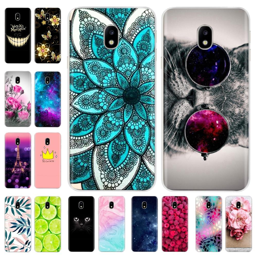 Silicone Case For Samsung Galaxy J3 2017 Case J330 J330F SM-J120F Cover For Samsung J317 Cover Funda Full Protective Bumper Coqa