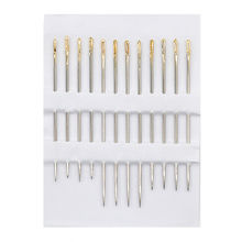 12pcs Self-Threading Sewing Needles Set Assorted Sizes Thread Stitching Pins for Jewelry Making Beads DIY Craft