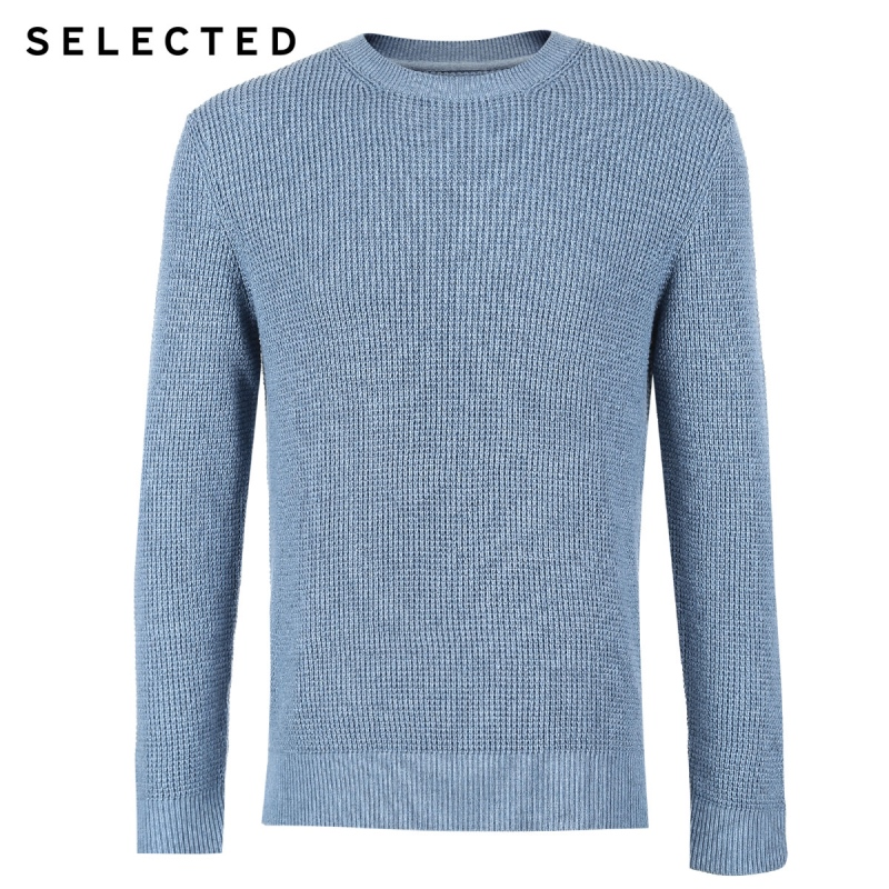 Image 5 - SELECTED Mens Winter Cashmere blend Pullover Clothes Round 