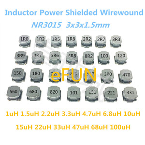 50PCS SMD Inductor Power Shielded Wirewound NR3015 3x3x1.5mm 1uH 1.5uH 2.2uH 3.3uH 4.7uH 6.8 10uH 15uH 22uH 33uH 47uH 68uH 100uH(China)
