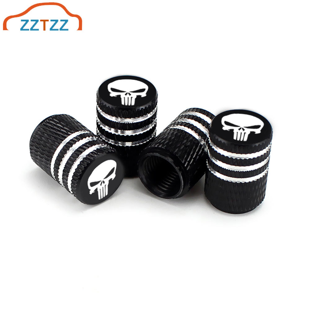 4Pcs/Set Aluminum Alloy Tire Valve Caps For Car Truck Motorcycle Bicycle Valve Stem Cover Tire Accessories