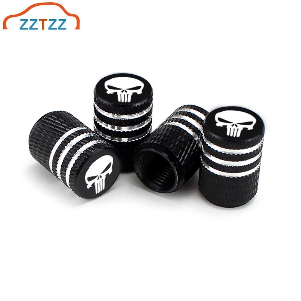 4Pcs/Set Aluminum Alloy Tire Valve Caps For Car Truck Motorcycle Bicycle Valve Stem Cover Tire Accessories